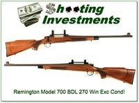 Remington Model 700 BDL 270 Win Exc Cond!