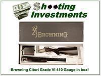 Browning Citori Grade VI 6 hard to find 410 in box!
