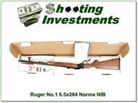 Ruger No.1 V in rare 6.5x284 Norma ANIB!