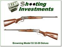 Browning Model 53 Deluxe 32-20 XX Wood!
