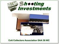 Colt Collectors Association Engraved SAA 38-40 New in Box with Case!