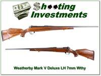 Weatherby Mark V Deluxe Left Handed XXX Wood 7mm!
