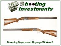Browning Superposed 20 Gauge 28in barrels XX Wood!