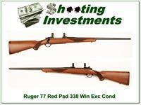 Ruger Model 77 Red Pad 338 Win Mag as new!