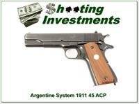 Argentine System Colt 1911 Exc Cond!