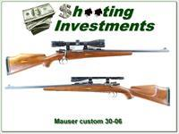 Custom Mauser 30-06 marked LMB with scope