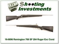 Remington 700 SF 204 Ruger Stainless Fluted!