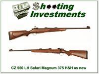 CZ 550 Safari 375 H&H as new!