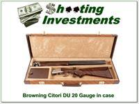 Browning Citori Ducks Unlimited 20 Gauge engraved ANIC!