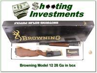 Browning Model 12 28 Gauge NIB!