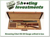 Browning Citori 20 Gauge Ducks Unlimited NIC!