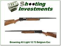 Browning A5 Light 12 73 Belgium VR Exc Cond!
