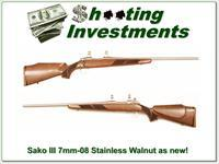 Sako 75 III Stainless with Walnut 7mm-08 Exc Cond!