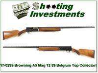 Browning A5 59 Belgium Magnum 12 as new Top Collector!