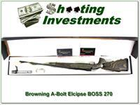 Browning A-Bolt II Eclipse RARE 270 Win BOSS
