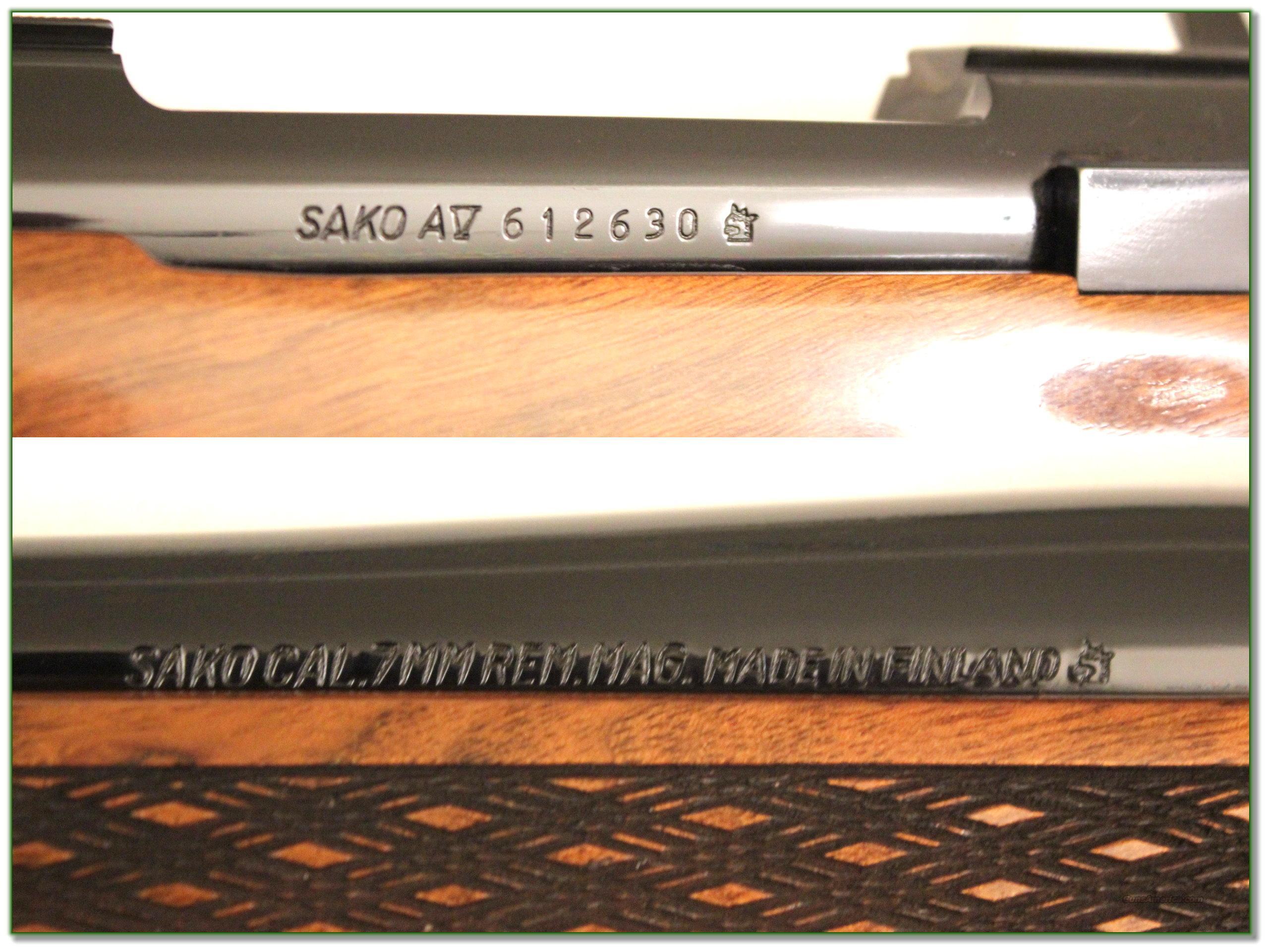 Sako Av Deluxe 7mm Remington Near New For Sale