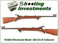 Winchester Model 52D 52 D 22LR Excellent collector condition!