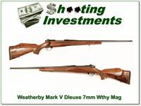 Weatherby Mark V Deluxe 7mm Wthy Mag near new!