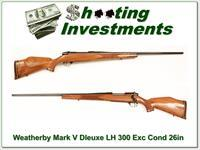Weatherby Mark V Deluxe Left Handed 300 26in Exc Cond!