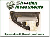 Browning Baby 25 Auto Chrome 1964 Belgium near new!