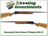 Browning A5 Sweet Sixteen 70 Belgium 26in IC VR!