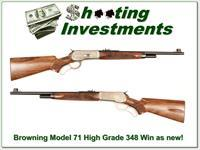 Browning Model 71 Carbine High Grade 348 Win as new