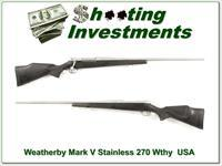 Weathebry Mark V Stainless 26in 270 Wthy Mag!