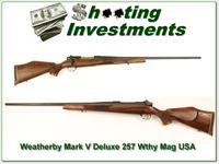 Weatherby Mark V USA made 257 Wthy mag