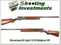 Browning A5 Light 12 53 Belgium VR Exc Cond!
