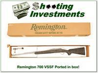 Remington 700 VSSF 220 Swift Stainless Fluted factory ported in box!