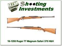 Ruger 77 Safari Magnum 375 H&H near new!