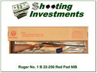 Ruger No.1 B 22-250 Rem Red Pad unfired in box!