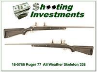 "Ruger 77 All-Weather ""Skeleton"" 338 Win Mag Exc Cond"