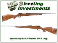 Weatherby Mark V Deluxe 240 9 Lug Exc Cond!
