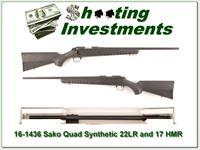 Sako Quad Synthetic 2-barrel set 22LR and 17 HMR