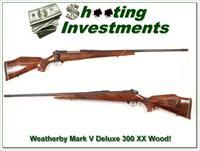 Weatherby Mark V Deluxe 300 Wthy Mag Exc Wood!