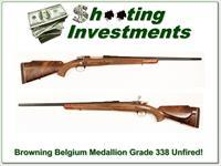 Browning Medallion Grade 338 Win Belgium unfired!