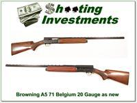 Browning A5 Light 20 71 Belgium looks new!