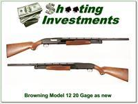 Browning Model 12 20 Gauge as new unfired!