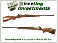 Weatherby Mark V Lazermark 5 panel 378 Exc Cond!