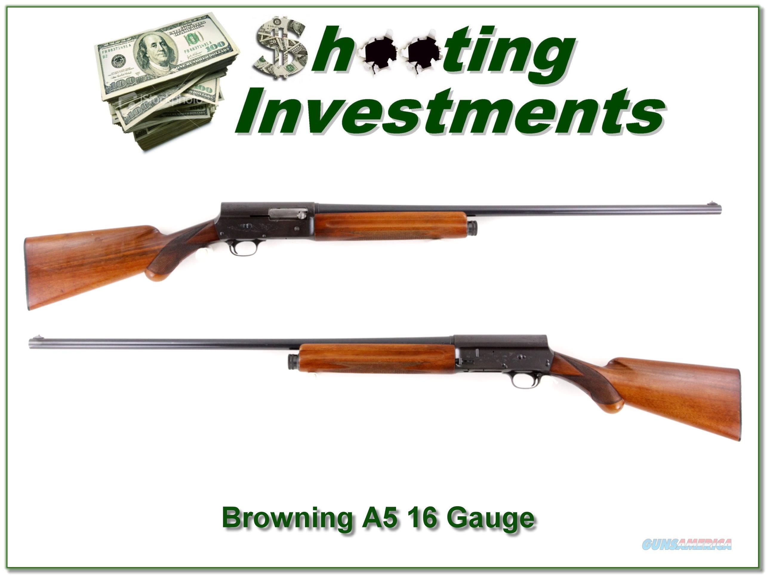 Browning A5 16 63 Belgium 30in full