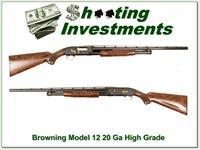 Browning Model 12 High Grade 20 Gauge XX Wood!