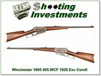 Winchester Model 1895 95 made in 1926 in 405 WCF Exc Cond!