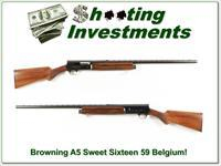 Browning A5 Sweet Sixteen 59 Belgium Exc Cond!