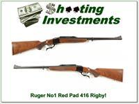 Ruger No. 1 416 Rigby early Red Pad Exc!