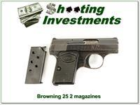 Browning Baby 25 Blued 2 Magazines!