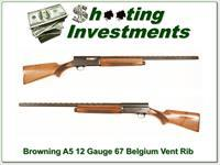 Browning A5 12 Gauge 67 Belgium Vent Rib Modified