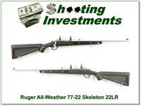 Ruger 77 / 22 All Weather Stainless Skeleton 22 LR!