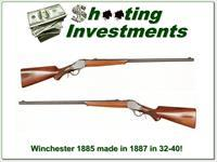 Winchester 1885 High Wall 32-40 made in 1887!