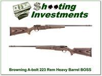 Browning A-bolt Laminate Varmint 223 Heavy Barrel with BOSS